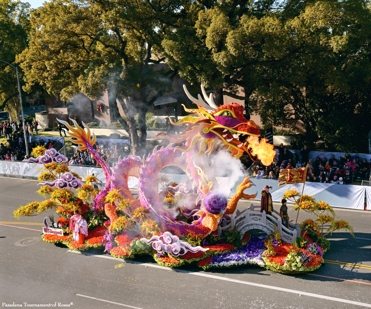 THIS MORNING! 2017 Tournament of Roses Parade LIVE from Pasadena, CA. (Pictured: one of last year's winning floats).