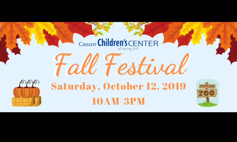 The First Annual Fall Festival at Cason Children's Center Oct. 12