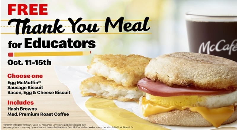 McDonald's Serves Up Free Thank You Meals to Educators