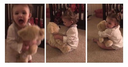 Baby Girl Loses It After Hearing Her Military Dad's Voice Inside Her Teddy Bear