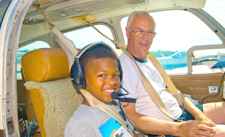 Kids Fly High in Young Eagles Program