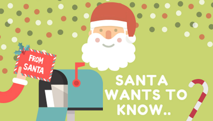 Send Letters to Santa Starting Dec. 2