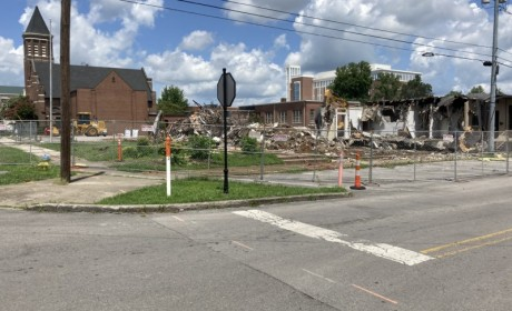 Exterior Demolition Begins on Historic Downtown Murfreesboro Block for Mixed Use