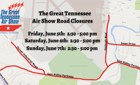 Great Tennessee Air Show Road Closures