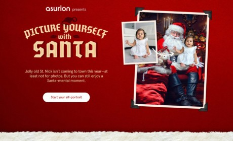 Asurion Launches Free Virtual Photos With Santa