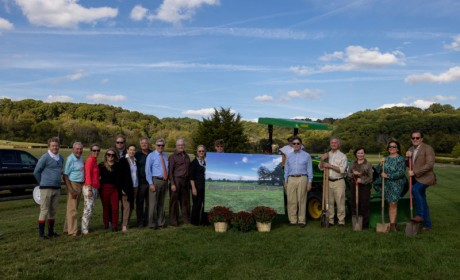 Iroquois Steeplechase Breaks Ground on Course Donated by Leiper's Fork Steeplechasers