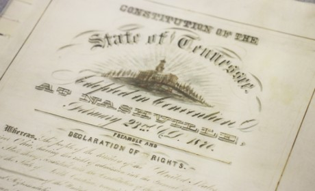 Tennessee's State Constitutions on Display for Statehood Day