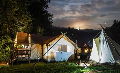 Go Glamping in the Great Smoky Mountains