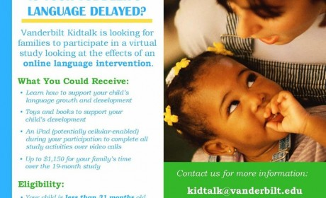 'Vanderbilt KidTalk' Helps With Language Development