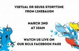 Dr. Seuss Story Time at Linebaugh (Online)